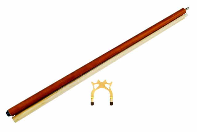"57"" 2 piece maple pool - billiard bridge stick w/ spider bridge head"